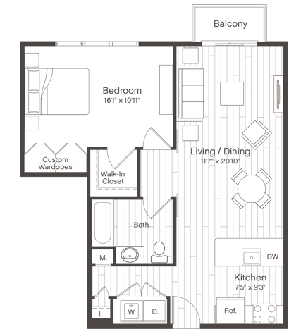 Floorplan of Unit A3