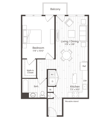 Floorplan of Unit A4