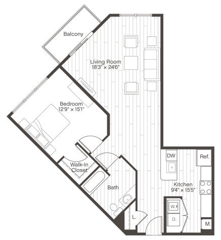 Floorplan of Unit A6