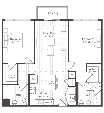 Floorplan of Unit B2