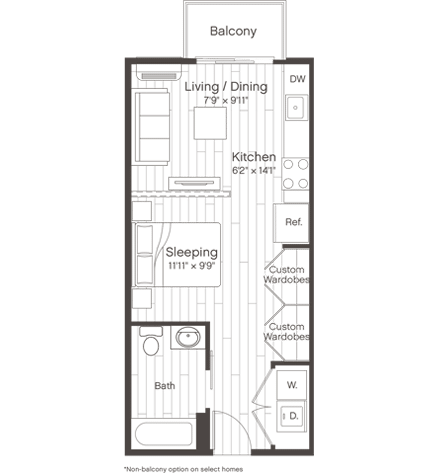 Floorplan of Unit S1