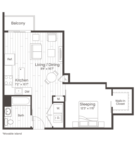 Floorplan of Unit S4.1